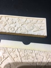 Beautifully carved antique ivory card case