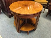 Burr walnut Art Deco nest of tables
