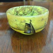 Daum Nancy Art Glass miniature bowl
