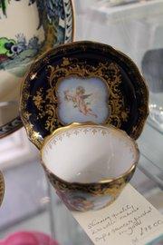 Dresden Porcelain 'Cupid' Cabinet Cup & Saucer