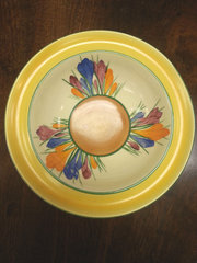 Early Clarice Cliff Bizarre Crocus Patterned Bowl