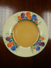 Early Clarice Cliff Crocus Pattern Plate