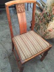 Eight Light Oak Chairs (inc 1 carver)
