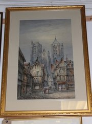 Ghent Cathedral Watercolour by Arthur Marshall