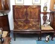 Japanese Parquetry Cabinet, Meiji Period