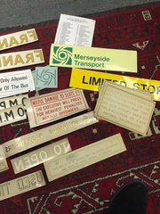 Large quantity bus transfers and signs