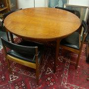 McIntosh Extending Teak Table & 4 Chairs