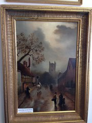 Oil by James Walter Gozzard, Northop Village