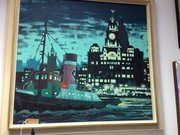 Original Oil Painting of Liverpool / Tug Boat
