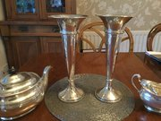 Pair Large  solid silver Vases London 1915