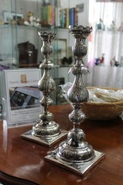 Pair of Russian Silver Candlesticks - Assayed 1894