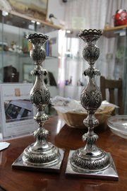 Pair of Russian Silver Candlesticks - Assayed 1876