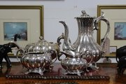 Quality Dixon & Sons Silver Plate Tea & Coffee Set