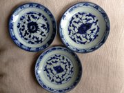 Set 3 Chinese Provincial Shallow Dishes