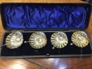 Set 4 Silver Salts Chester 1894 James Deakin