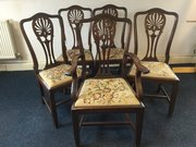 Set of 5 Georgian style chairs