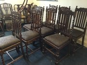 Set of 8 oak chairs