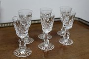 Set of Six Waterford Crystal Sherry Glasses