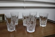 Set of Six Waterford Crystal Tumbler Glasses