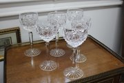 Set of Six Waterford Crystal Wine Glasses