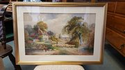 Signed Watercolour by Charles James Keats