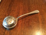 Silver Tea Strainer Spoon Goldsmiths c1924