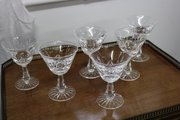 Six Stunning Waterford Crystal Liquor Glasses