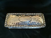 Sterling Silver Hand Beaten Snuff Box