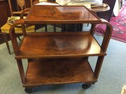 Stylish Burr Walnut Art Deco hostess trolley