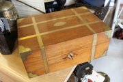 Superb Wood & Brass Box