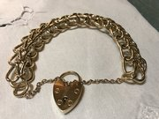 Unusual Victorian 9ct Gold bracelet
