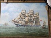Various Maritime  Watercolours & Oil Paintings
