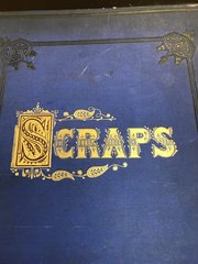 Victorian Scrap Book crammed with scraps