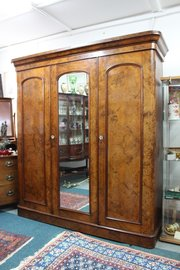 Victorian Walnut Linen Press and wardrobe