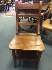 Victorian oak metamorphic library chair