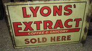 Vintage Advertising Sign Lyons Extract Sold Here'