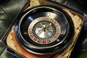 Vintage Desktop Roulette Wheel from Harrods