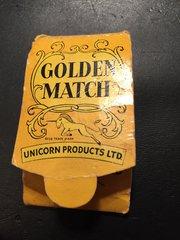 Vintage Miniature Unicorn Golden Match Darts