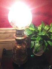 1800 Gaggenau Stamped  Oil Lamp Bronze