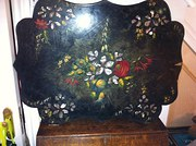 1890 Hand Painted Lacquered Wall Hanging