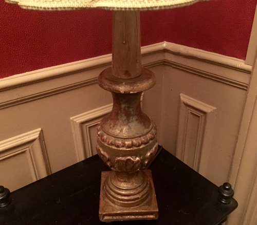 1900 Italian Giltwood Table Lamp