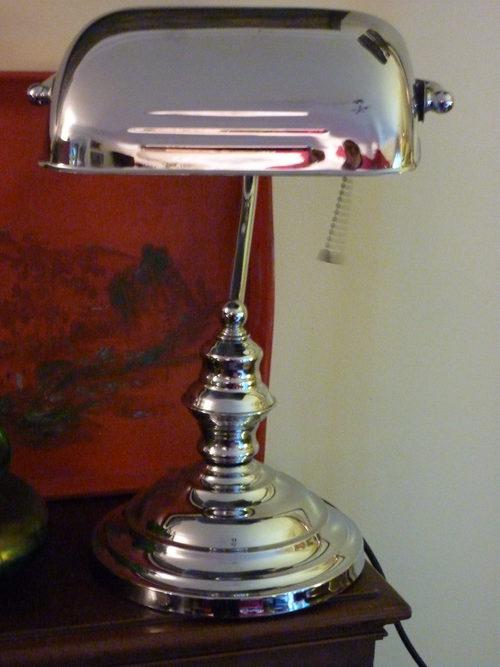 art deco notary bureau lamp