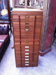 Antique Collector's Cabinet in Teak
