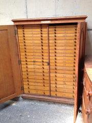 Antique Specimen Cabinet in Oak