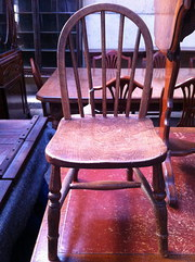 Antique  Windsor Child's Chair in Oak