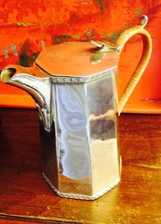 Art Deco Chocolate Pot Silver Plated