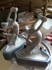 Art Deco Dancing Ladies Book Ends
