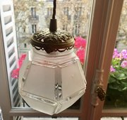 Art Deco Lantern Frosted Glass