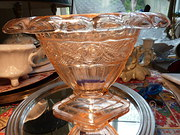 Art Deco Pink Vase/ Fruit Bowl