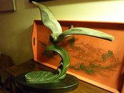 Art Deco Sculpture Seagull on a Wave